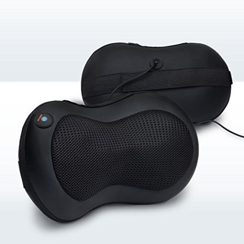 LiBa Shiatsu Neck Back Massager Pillow, Shiatsu Massager w: Heated Balls Car Massager