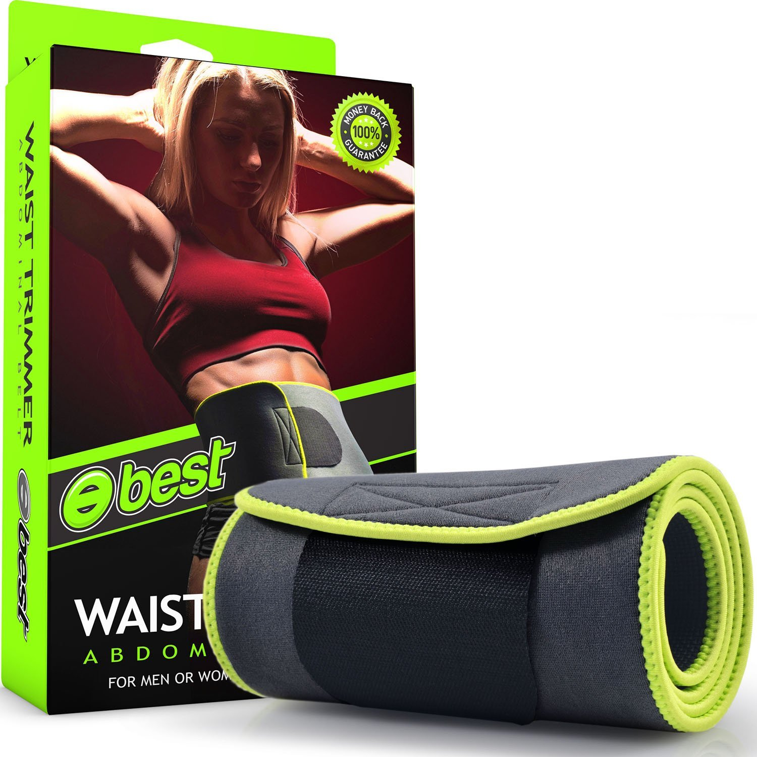 Premium Neoprene Stomach Wrap Waist Trimmer Belt