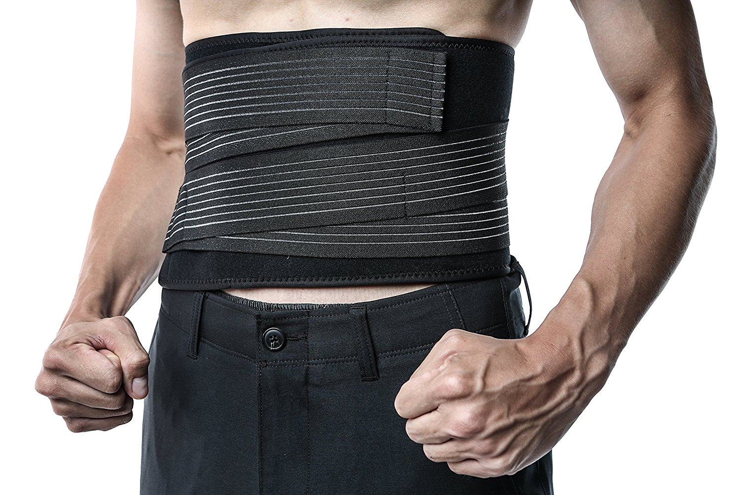 Think Ergo Neoprene Waist Trimmer Belt for Men and Women